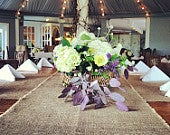 Burlap Table Runner 16 18 or 20 Extra Wide Table Runners Rustic Burlap Wedding Decorations