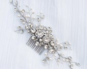 Wedding Hair Accessories, Bridal Comb, Bridal Hair Accessories, Bridal Headpiece Carmen Large Bridal Hair Comb in Silver or Gold