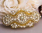 Gold Wedding Hair Comb Crystal and Pearl Hair Comb for Wedding Gold Bridal Hair Comb Wedding Day Hair Comb Gold Hair Jewelry