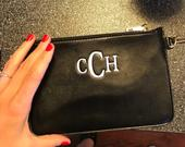 Personalized Monogrammed Wristlet Clutch Purse Handbag Great Bridesmaid Maid of Honor Wedding Gift 3 Colors