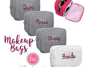 Personalized Bridesmaid Make up Bag , Waffle Cosmetic Bag, Bridesmaid Gifts, Waffle Makeup Bags, Wedding Party GIfts , Personalized Bridal P