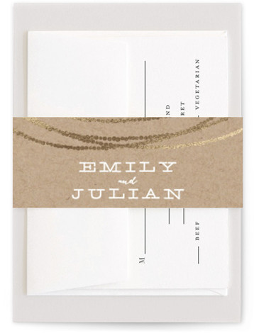 Gold Rush Foil-Pressed Belly Bands