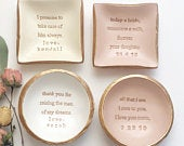 Mother of the Bride Gift / Mother of the Groom Gift / Mother In Law Gift / Wedding Gift / Gifts for Mom / Personalized Gift / Jewelry Dish