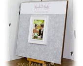 Gray and Pink Wedding Guest Book Alternative, Silver Wedding Signature Frame, Personalized Guestbook Wedding Picture Frame