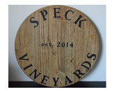 Wine Barrel Lid (faux) with Custom Text Wedding gift / guest book / centerpeice / couple gift / anniversary gift / home decor / wall decor