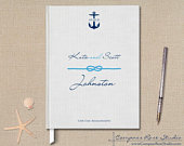 Anchor Wedding Guest Book, Nautical Wedding Guest Book, Custom Wedding Guest Book, Elopement Reception Guest Book, Wedding Journal