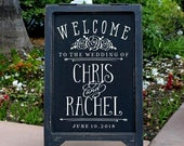 PERSONALIZED Chalkboard Sign Decal DIY Wedding Signs Welcome to the wedding of