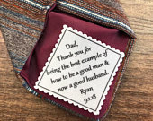 FATHER IN LAW Father of the Groom Personalized Wedding Gift, 2 or 2.5 Wide Patch, Sew On, Iron On, I Am Blessed, Wedding Tie Patch
