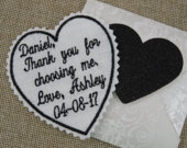 Embroidered Wedding Tie Patch, Bride Gift To Groom On Wedding Day Wedding Gift For Groom or Wedding Gift for Father Of The Bride Or Groom