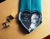 Embroidered PHOTO Remembrance Tie Patch Monogrammed for Your Loved One! FREE Gift Cases! Memory Love Note Patch Custom Gift Embroidered