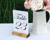 Table Number Holder Rustic Card Holder Wedding Card Holder 5 inch Set of 10 For Restaurants Weddings Banquets by Gallery360Designs