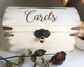 Wedding Card Box Optional Lockable Upgrade Wood Card Box with slot Gift Card Chest Rustic Keepsake Box Lock Sold Separately