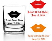 Set of 24 Personalized Wedding Shower Lips Votive Candle Holder Custom Party Favors Bridal Shower Wedding Party Favors V73