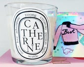 Digital File Custom Diptyque Inspired Candle Label STUNNING for Gifting, Bridesmaids, Showers, Weddings, Parties!