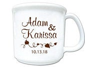 Fall wedding favors, Wedding coffee mug favors, personalized coffee mugs, personalized 8oz plastic coffee mugs, 200 pieces