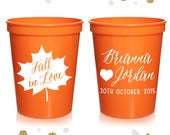 Fall Wedding Wedding Stadium Cups 25 Custom Bridal Wedding Favors, Wedding Cups, Party Cup