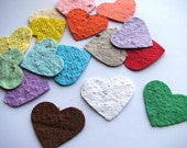 400 Plantable confetti hearts choose from 16 colors homemade paper mixed with wildflower seeds ecofriendly earth day