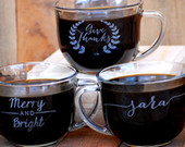 Personalized Coffee Cups, Coffee Wedding Favors, Custom Guest Gifts, Wedding Reception, Winter Wedding, Wedding Favors Coffee, Coffee Bar