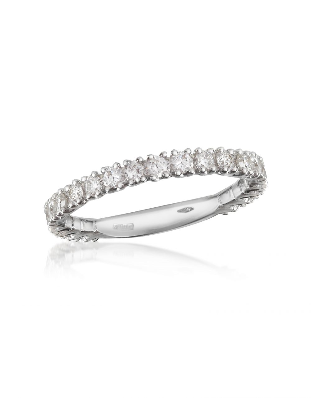 Forzieri Rings 0.74 ct Diamond 18K Gold Eternity Band