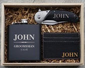 Groomsmen Gift Flask Set Personalized Engraved Box Best Man Bachelor Party Wedding Favors Gift For Him