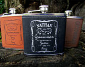 Custom Engraved Flask for Groomsmen, Custom Engraved Whiskey Lover Gift