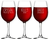 Personalized Wine Glass Custom Bridesmaid Stemless Wine Glass Wedding Gift Etched Flute Glasses Maid of Honor Gift