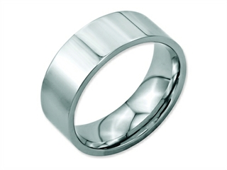 Chisel Stainless Steel Flat 8mm Polished Weeding Band
