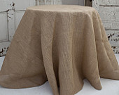 Burlap Tablecloths, Hessian, SHIPS 1 DAY, Round or Square Overlays, Fall wedding, Winery wedding, Thanksgiving, Halloween