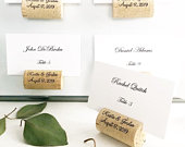 Magnetic Personalized Wine Cork Place Card Holder Wine Cork Magnets Custom Wine Cork Wine Cork Favors Wedding Cork Favor Cork Card Holder