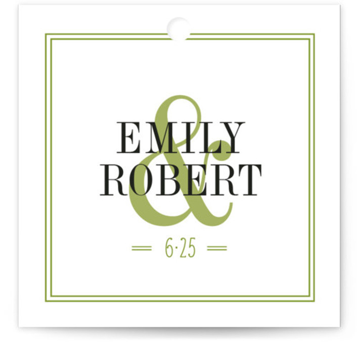 Wed In Type Wedding Favor Tags