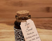 Custom maple syrup wedding favors (100% pure, family owned Vermont syrup)