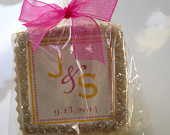 custom wedding birthday shower cookie favors modern graphic 1 dozen