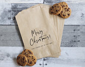 Holiday Treat Bags, Merry Christmas, Christmas Favor Bags, Cookie Exchange Bags, Christmas Wedding, Christmas Party Favors, Holiday Party