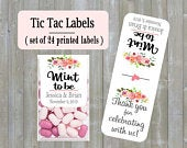 Mint to be Wedding tic tac labels, Wedding Favor, customized (set of 24 printed labels) Bridal shower, Anniversary, TIC789142