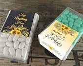 Personalized Tic Tac Favors Personalized Wedding Mints Yellow Watercolor Favors Mint To Be Shower Favor Birthday Party TT