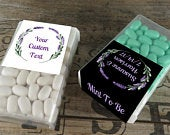 Personalized Tic Tac Favors Personalized Wedding Mints Lavender Floral Favor Labels Mint To Be Shower Favor Birthday TT LV