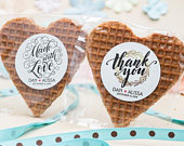 BEST SELLERS! Unique wedding favors / stroopwafel wedding favor / cheap wedding favors / personalized gifts / custom unique party favors