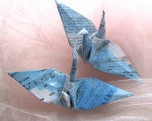 Custom Peace Crane Origami Ornament Wedding Cake Topper Party Favor Japanese Paper Bird Place Card Holder Table Decoration Personalized
