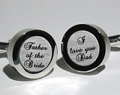 Father of the Bride, Father Gift,Custom cufflinks for Dad,Personalized Gift,Mens Gift,Wedding Cuff links