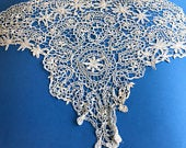Very Large, Very Wide Antique Tape Lace Border, Over 5 Yards, Handmade, Fine Linens, Table, Decor, House, Home, Elegant, Trim, Flounce