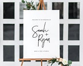 Printable Wedding Welcome Sign Wedding Welcome Sign Template Calligraphy Welcome Sign Wedding Ceremony Sign Instant Download CS12