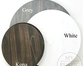 Blank Wood Circle Sign Bar Stool Seat Brown, White, Grey My Rustic Signs