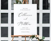 Printable Wedding Welcome Sign Wedding Welcome Sign Template Calligraphy Welcome Sign Large Wedding Welcome Sign Ceremony WG18