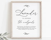 Lavender Toss Sign, INSTANT DOWNLOAD, 100% Editable Template, Printable Wedding Lavender Confetti Send Off, Ceremony Exit, 5x7 8x10 CHM08