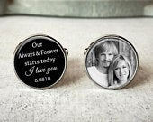 Customized Wedding Quote Cufflinks, Mens Custom Cufflinks, Wedding Day Keepsake, Gift For Groom, Gift From Bride, Gift For Dad