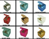 Foldup Favor Gift boxes 2 x 2 x 2 Cube Wedding / Birthday Party Favor Boxes