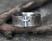 Cross ring / sterling silver ring / Christian ring / baptism gift / confirmation gift / unisex ring / gift for him / gift for her / sale
