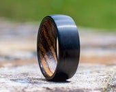 Wood Wedding Band Men, Wooden Ring, Wood Ring, Wood Wedding Ring, Mens Wooden Ring, Mens Ring, Black Wedding Band Wood, Wood Inlay Ring
