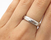 Signed 925 Sterling Silver Band Wedding Ring Size 6