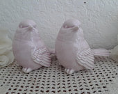 Love Bird Wedding Cake Topper Set Light Blush Pink Ceramic Figurines Romantic Two Pair Spring or Summer Reception Table Decoration Gift Her